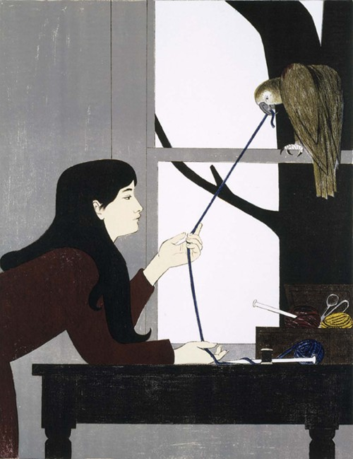 cavetocanvas:  Will Barnet, Silent Seasons - Winter, 1968