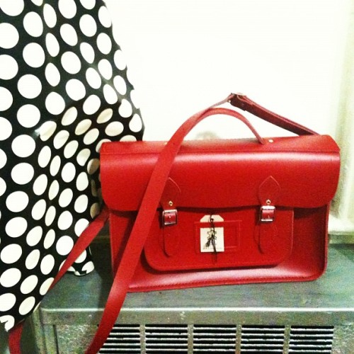 I'm in love with my @CamSatchelCo bag. It's the perfect shade of red.  (Taken with instagram)