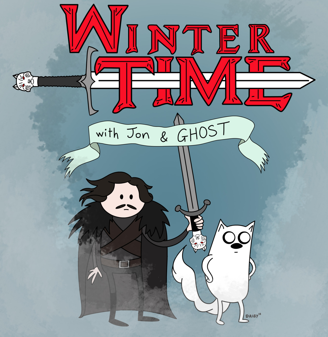 Genius. daisymay:  It's Winter Time! With Jon the Bastard and Ghost the Direwolf, lets adventure beyond the wall!