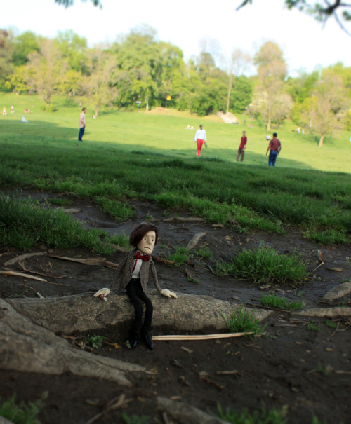 In Prospect Park I tried to join a game of football, but they sad I was too short. I didn't really want to play anyway.