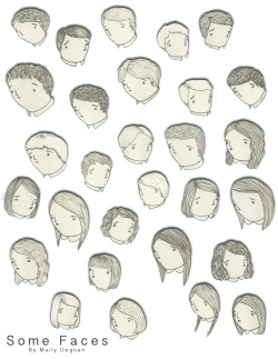 Some doodles.   Some Faces 2012 ink and graphite, digital © Mai Ly Degnan