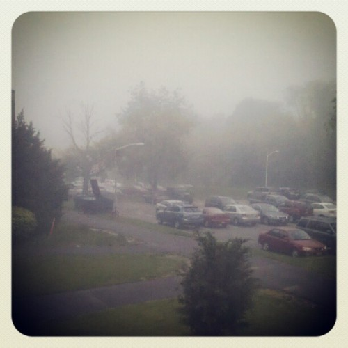 It's foggy and gross out and I'm not a fan. #fog #gross #weather #humidity #yucky (Taken with Instagram at Dreiser College - Stony Brook University)