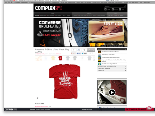 COMPLEX - Awesome T-Shirts of the Week: May 9, 2012 The Cooler KRS Buy It Now at The Cooler, $15