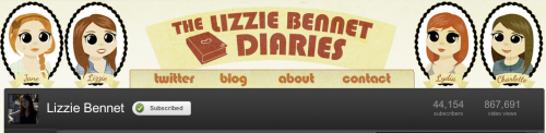 lizziebennetdiaries:  Check out the new channel art on our YouTube channel! It's pretty cute. http://youtube.com/lizziebennet - Art by Naomi Gunadie