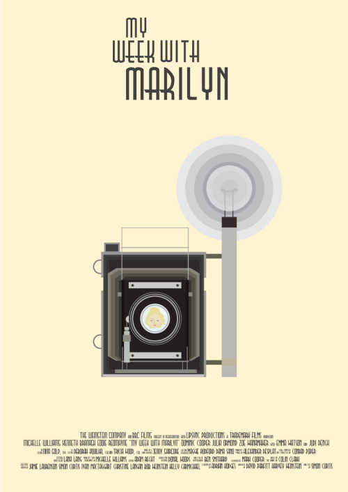 minimalmovieposters:  My Week with Marilyn by Clara Ishikawa