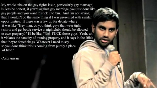 How I feel about North Carolina passing A1 ~ Aziz Ansari