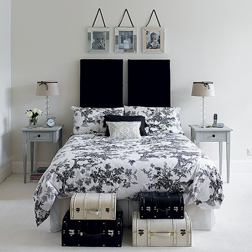micasaessucasa:  Traditional Black And White Bedroom That Inspire