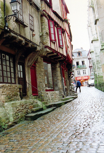 | ♕ |  Cobblestone pavement - Vannes, France  | by © Peter Gutierrez