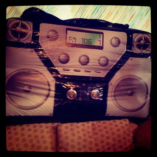 Whatchu know about inflatable boomboxes?! (Taken with instagram)