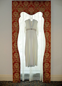 A recent bride I photographed wore her mother's wedding dress. Looked great!