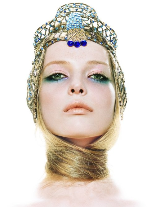 thebeautymodel:  Polina Kouklina by Miles Aldridge for Vogue Italia.