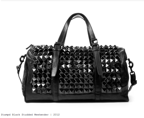 LoCal Designer Shout out …Studded Men's bag by Los Angeles Based Designer Stampd'LA responsible for kanye's studded hat on Lost in the World video
