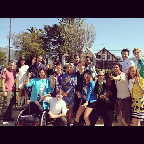 dianna-and-harry:  My bbs standing together <3  Chord Overstreet doing a left hand 2NE1 pose.