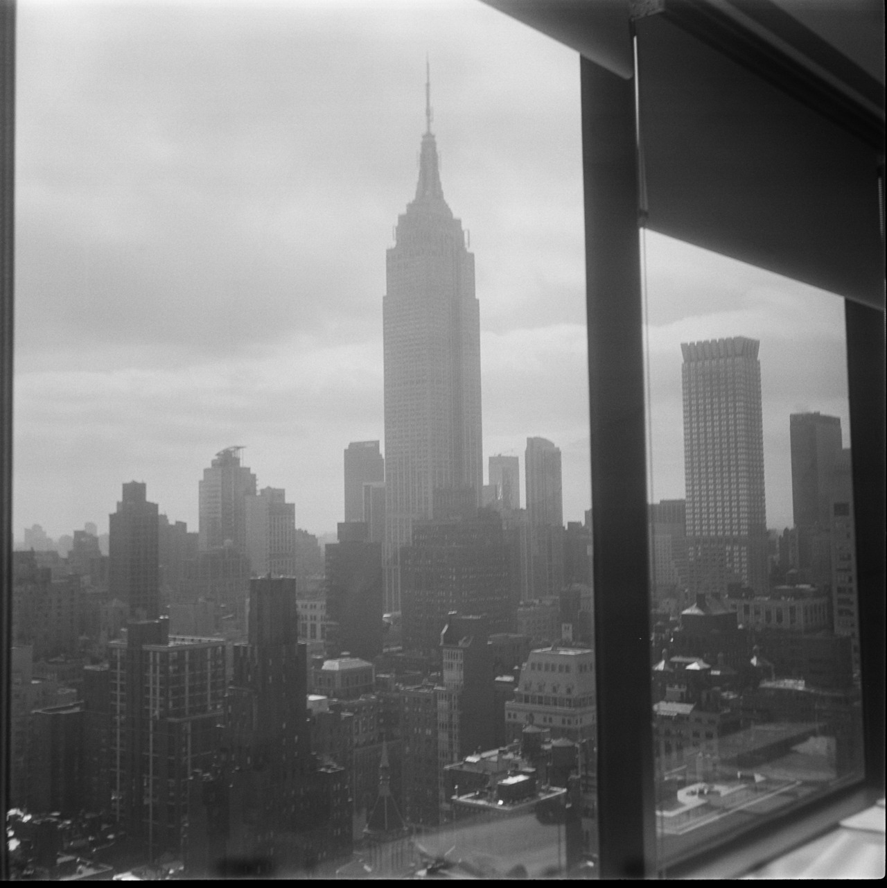 """how can i be just your friend?"" esb from midtown nyc. (Agfa Isola)"