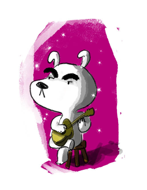 I got a new tablet, one I can draw with. I drew K.K. Slider.