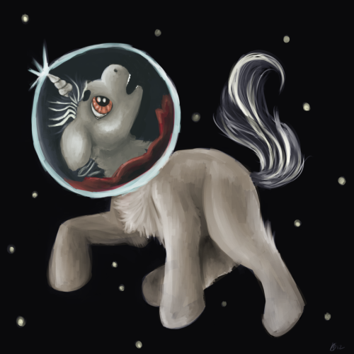 lazybutts:  lazy-art:  When a unicorn dies they unleash a burst of unbridled power, the sum of their experiences on this mortal plane. Usually this magic manifests as something related to their special talent.When Far Flung met her untimely demise a star was born.    Tired of working on this So I finished up the tail and threw together some semblence of a body To lazy to fully render everything as much as I did her head.   Nuuu :'(