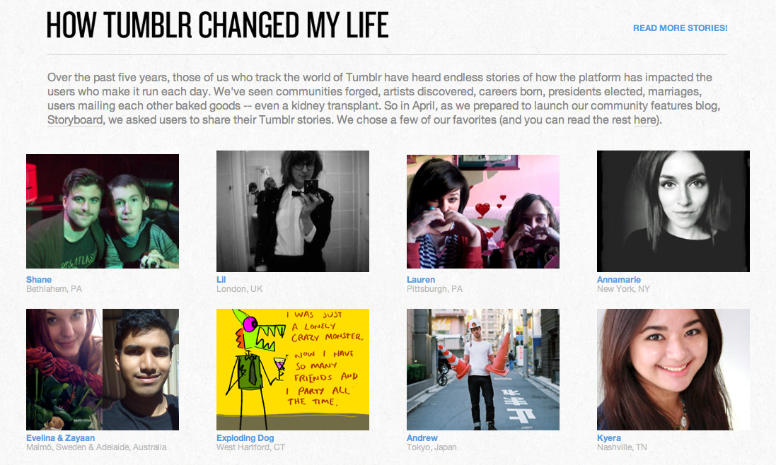 I was featured by Tumblr on their new curated Storyboard blog.