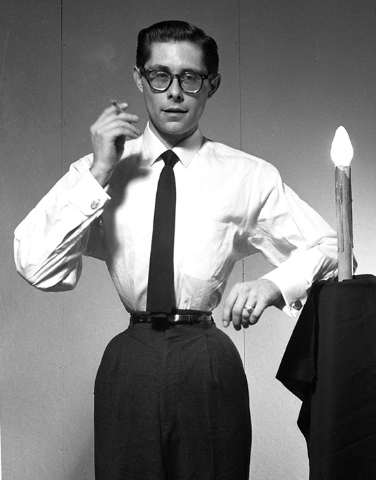 tiny-doe:  The Perfect Gentleman by Fakir Musafar, 1959.