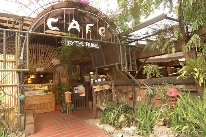 "Cafe By The Ruins, Baguio: Great ambiance, breakfast food & hot chocolate Last April 22, I headed over to the Philippines' City of Pines for Karlo's birthday, a brief trip to Kalinga, and a wedding at La Union, and what I had hoped would be many days of creative output. I am not inherently a food blogger, but I AM fond of food, and I find that I am developing more discipline / EQ to take pictures of my food before I begin ruining the plating in favor of my eager taste buds. Among the first of my Baguio resto discoveries is Cafe By The Ruins.   ""Ruins"" are the remains of a building, city, etc., that has been destroyed or that is in disrepair or a state of decay.The inviting cafe was initially built on the ruins left behind by World War II (or so Karlo claims); now, you can see it's also built around eyesores that lead to the uglification of Baguio, beginning with the glaring Eurotel right beside the cafe. But that's a totally different story.Anyway. I'm a sucker for well-decorated places with great ambiance.I am more likely to hang out in a place with below average food and great ambiance vs. great food with below average ambiance (I might eat quickly in those places but not necessarily hang out). Luckily, Cafe By The Ruins offers great ambiance, rustic and Baguio-y, AND great breakfast food options. Choose from a selection of seating areas:   Tables arranged around a dap-ay, which is like a circular gathering around a bonfire.  More seating areas:   Being a lover of breakfast no matter what time of day, Karlo and I shared some breakfast fare for a late merienda. :D We started with a piece on Onion Bread (P80) with some jam / spread. This was not worth ordering. 'Nuff said.  Karlo, being on a ""see-food"" diet, wanted to order a rice meal AND champorado with dilis, which at around 5pm, was way too heavy considering we'd be having dinner in a few hours. So, he decided to get just the Fisherman's Breakfast (P245) instead, which was still heavy, of course. It consisted of dried fish, scrambled eggs, grilled tomato and some red mountain rice. It was on the pricey side, but Karlo thoroughly enjoyed his order. :)  He also got a pot of Ceylon Tea (P120), which contained enough tea to last two people the entire meal, served with a lime and honey. Good stuff. You'll also be amazed with how heavy the pot itself is. Kettle bell level.  I got myself the Indios Bravos (P200), which were almost like little bibingkas, or rice pancakes with salted egg (and possibly some kesong puti, if I remember correctly) and dried coconut. Best eaten with lots of muscovado sugar! Yum.  Now, given the size of these baby pancakes, a price of P200 is way expensive for me BUT it comes with this huge and AWESOME cup of really excellent hot cacao. I'm a self-declared cacao connoisseur, and this passes with flying colors.  I hate when I get hot chocolate that is either watered down, thickened with cornstarch or ""flavored"" with sugar vs. chocolate. This cup was not too sweet, not too thick, not diluted / extended, rich in cacao flavor, very tablea-y. Just how I like it. We went back to Cafe By The Ruins later in our stay, but I found my Lemon Ricotta pasta rather underwhelming, so I didn't bother taking a photo. But if you have a little extra cash to spare, drop by Cafe By The Ruins for their breakfast fare any time of day. You won't regret it! Okay. Nabusog ako sa blog post ko. Will be featuring more of Baguio (more food than anything else) in the coming days. In the meantime, Manila work beckons. :P Back to simpler food,Jen  Twitter 