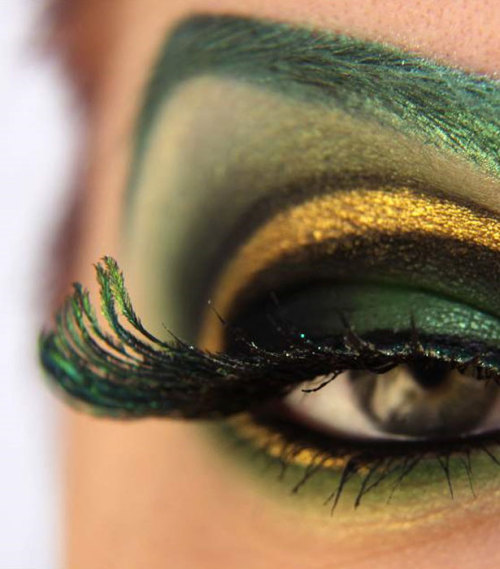 This is so effing cool cineboobs:  Loki themed eye make up, by Finnish Fangirl Katira Brun, who also used her talents to create themed looks for Iron Man, Thor, Captain America, R2D2 and more. Check them all out on her blog here. The Nick Fury one in particular is pretty genius.  Hat Tip: Stylist.co.uk