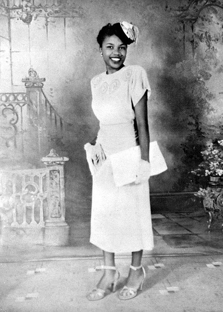 vintagenoire:  lucille baldwin brown, the first black public county librarian.