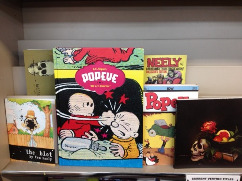 We proudly carry Tom Neely's excellent self-published graphic novels and comics! He noticed our recent Popeye post… iwilldestroytom:  they should put The Wolf and The Blot right next to these on their rack and see how customers react.