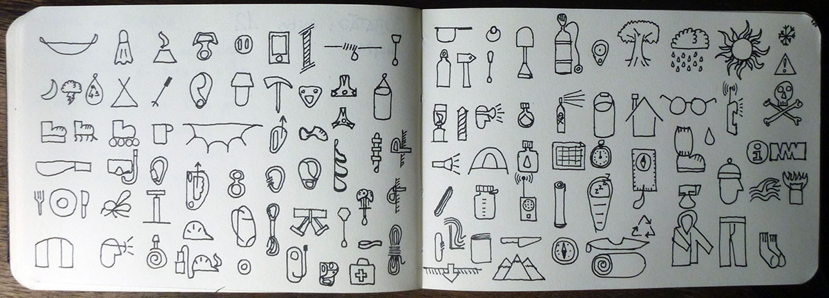 SUBMISSION: Adventure icons at my sketchbook