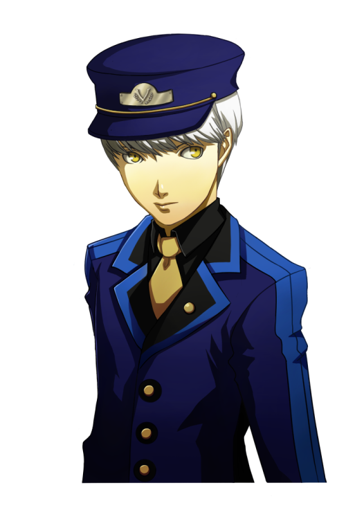 toguchin:  So. I read this INCREDIBLE Persona 4 fanfiction on the badx2bathhouse where there's fine print in the Velvet Room contract that states a Wild Card who fails to complete his journey becomes a denizen of the Velvet Room because they sign their soul over (which totally explains Elizabeth, Margaret, and Theodore). But the fine print is too tiny to read, and hey, people think they're dreaming when they sign it. So Souji dies midway through his journey and passes the Contractor's key to Yosuke, who takes on his Persona Compendium and continues as the new leader. When he enters his Velvet Room, a train, Igor's assistant managing his compendium is a Souji-like man named Sebastian, who is the memory-wiped Souji whose soul is now connected to the Room. Needless to say, I had to make a Velvet Room!Souji sprite edit, golden eyes, unnaturally pale hair and all. Haaaad to be done. ♥ Edit: Here's the fic for you guys.  http://badx2bathhouse.livejournal.com/543.html?thread=871455#t871455