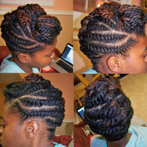Would love to see this from the front…gorgeous styling. aroundthewaycurls:  Protect Yourself By Any Means Necessary : )