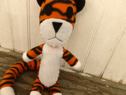 Sitting Hobbes Fleece Plushie