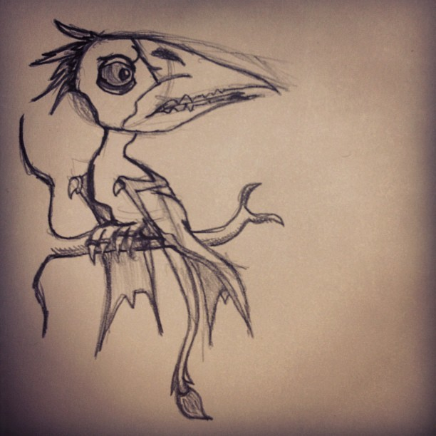 Just sketching. (Taken with instagram)
