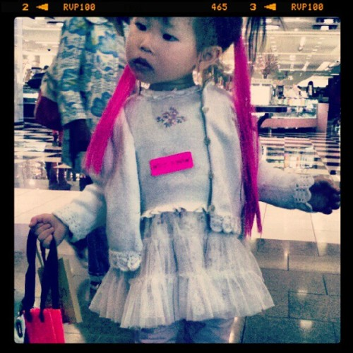 If Betsey had a children's line she's be the fiercest model. #betseyjohnson #glitter #modelstatus #wildthing #cute (Taken with instagram)