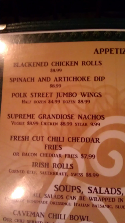 SUPREME GRANDIOSE NACHOS at Polk Street Pub, Chicago, IL. With a name like that, they're begging to be sampled. Who's up for the challenge?!