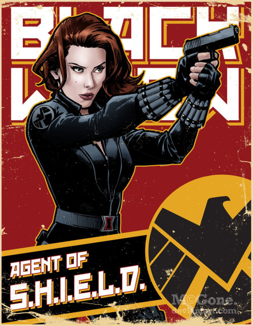 rmsk8r05:  Black Widow, Agent of S.H.I.E.L.D. by ~McGone