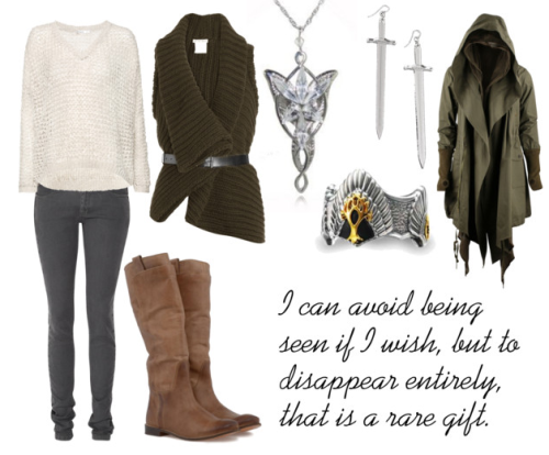 fictionalfashionistas:  BY REQUEST Lord Of The Rings Inspired - Aragorn