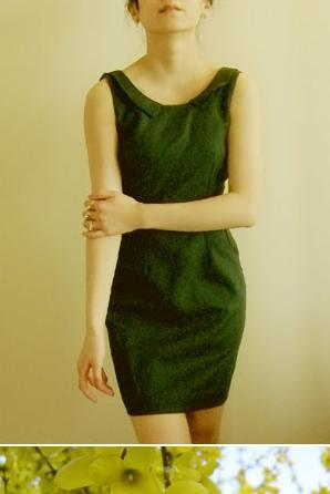 Green dresses are for badasses. Wool body with polyester lining. A beast to make, but beautifully worth it.