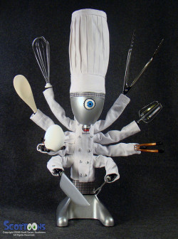 Nanitutu: ChefBot: robot chef and cyber cook by Scottoons on Flickr.