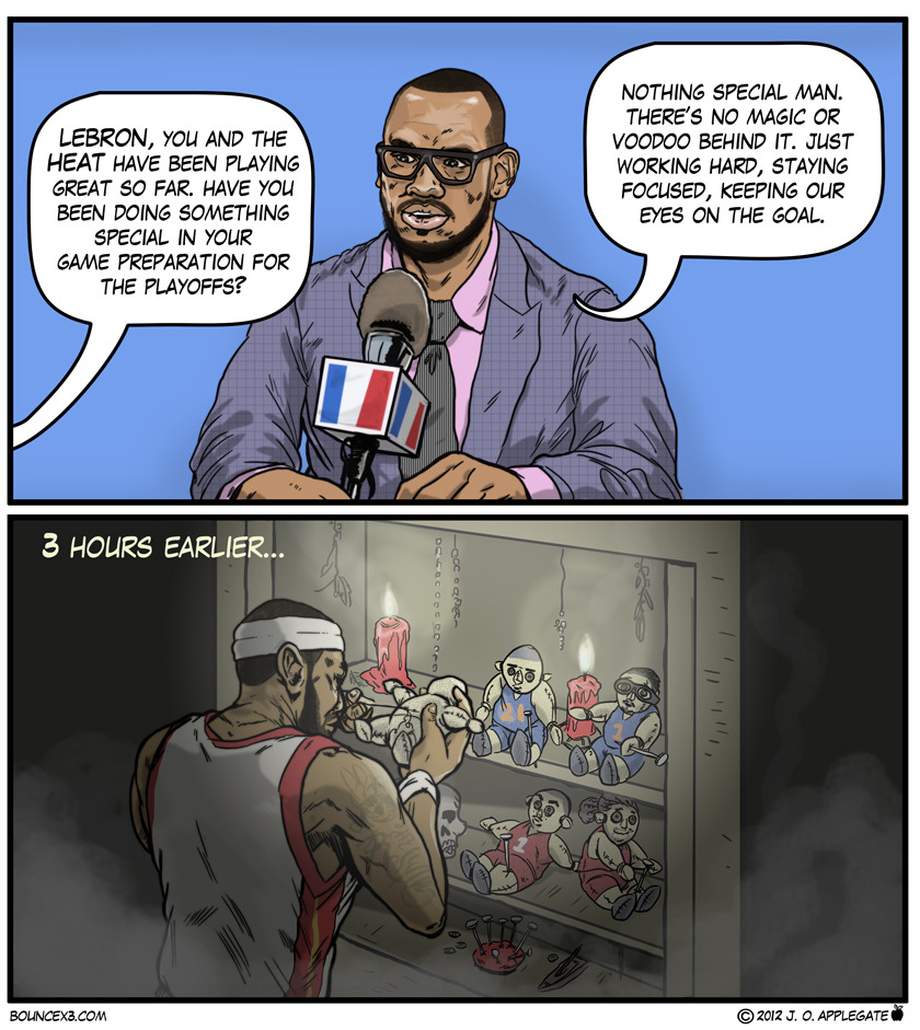 Which voodoo doll do you think Lebron should be working on now?