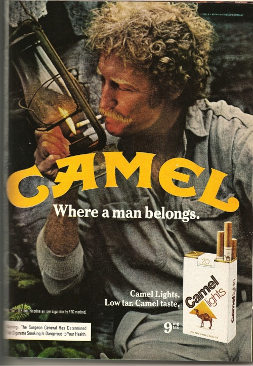 Camel. Hairy ad from Playboy, March 1981.