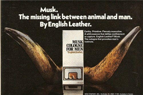 Musk. Ad from Playboy, November 1976.