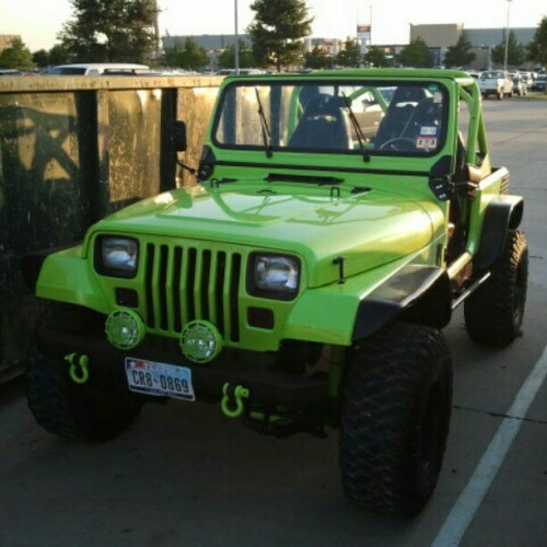 itsbuddy:  Found this in the parking lot at work today. Mmmmffff. #jeep #monster (Taken with instagram)