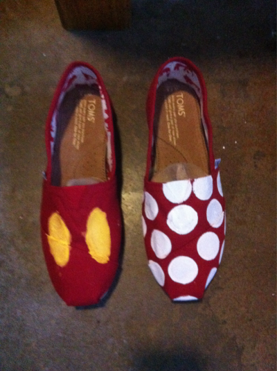 Mickey Mouse and Minnie Mouse TOMS.