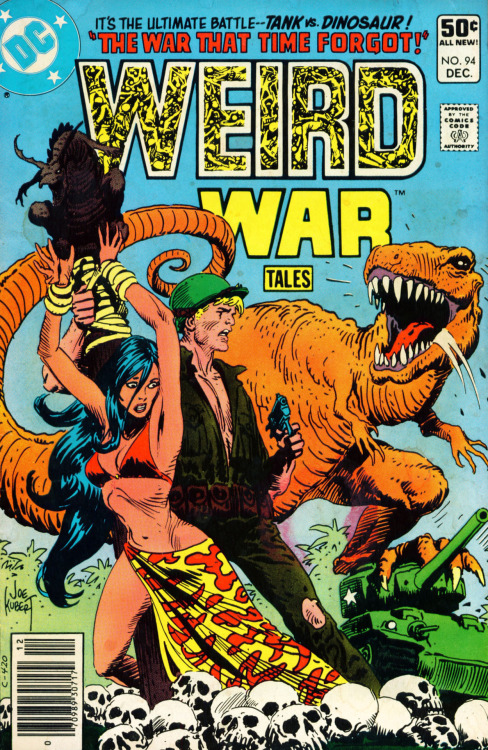 comicbookcovers:  Weird War Tales #94, December 1980, cover by Joe Kubert