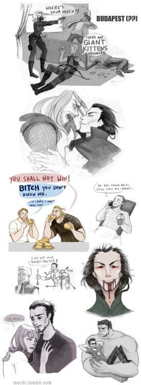 GIANT AVENGERS SKETCHDUMP thanks for your prompts!