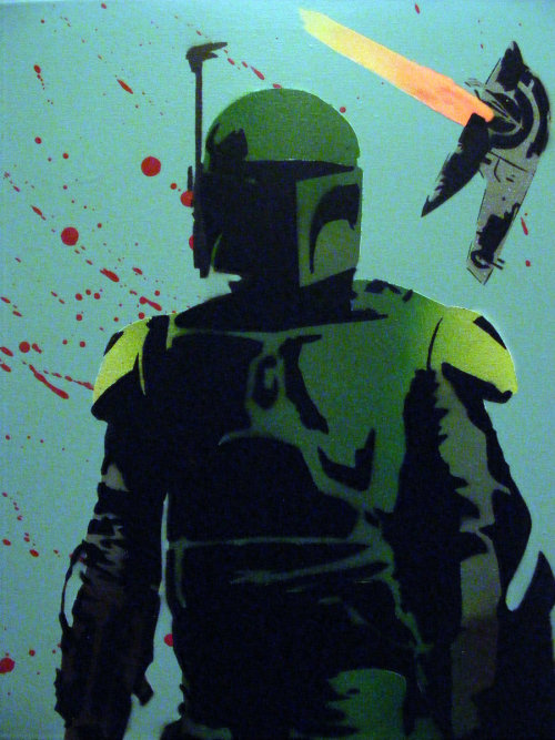 holden421:  Boba Fett Slave1 Star Wars Original Spray Painting by ~TheStreetCanvas