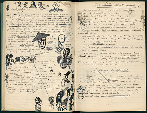 Above: A page from Samuel Beckett's notebooks containing what would become Watt. (via: invisiblestories) For more Beckett, join Triple Canopy on Monday, June 4 at 8pm for a performance of The Fizzles, an adaptation of Samuel Beckett and Jasper Johns's Foirades/Fizzles by the Piehole theater group. @ 155 Freeman, in Greenpoint.