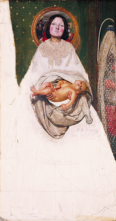 welovepaintings:  Ford Madox Brown Take Your Son, Sir 1851