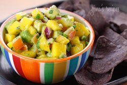 Avocado and Mango Salsa (via Skinnytaste)