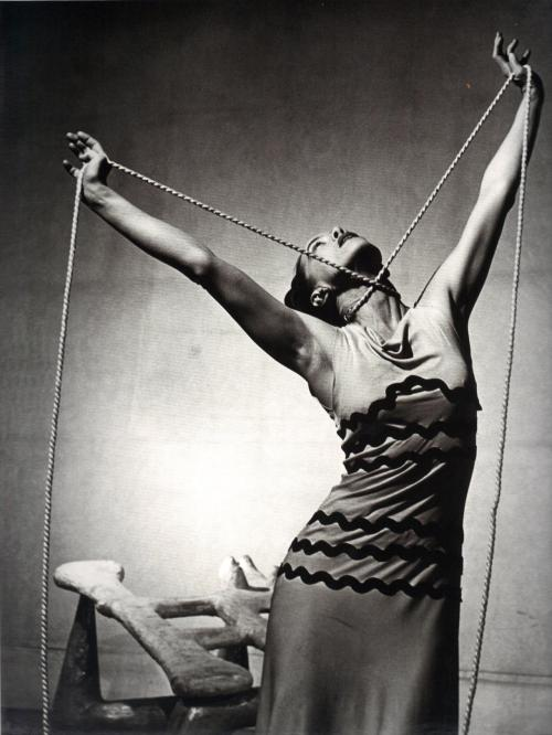 realityayslum:  Philippe Halsman - Martha Graham in Night Journey, 1946. … from Unknown Halsman. Edited by Oliver Halsman Rosenberg, D.A.P. / Distributed Art Publishers, Inc. 2008.