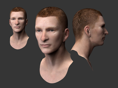 thegingermilitia:   High Res head created while at ACES. Irish/Red head male in his 20's.   lol